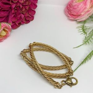 Vintage Jewelry - SALE⚜️VINTAGE Gold-Tone Rope Necklace -Heart Clasp